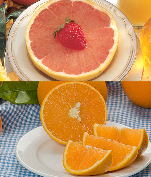Valencias & Red Grapefruits
